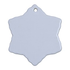 Alice Blue Houndstooth in English Country Garden Snowflake Ornament (Two Sides)