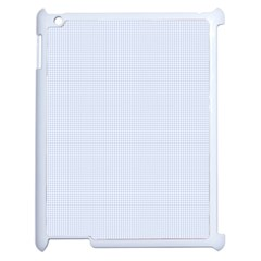 Alice Blue Houndstooth in English Country Garden Apple iPad 2 Case (White)
