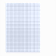 Alice Blue Houndstooth in English Country Garden Large Garden Flag (Two Sides)