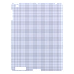 Alice Blue Houndstooth in English Country Garden Apple iPad 3/4 Hardshell Case