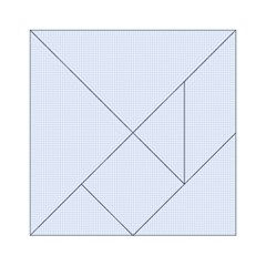 Alice Blue Houndstooth in English Country Garden Acrylic Tangram Puzzle (6  x 6 )