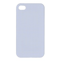 Alice Blue Houndstooth in English Country Garden Apple iPhone 4/4S Premium Hardshell Case