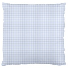 Alice Blue Houndstooth in English Country Garden Large Cushion Case (Two Sides)