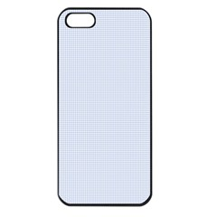 Alice Blue Houndstooth in English Country Garden Apple iPhone 5 Seamless Case (Black)