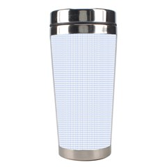 Alice Blue Houndstooth in English Country Garden Stainless Steel Travel Tumblers