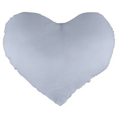 Alice Blue Houndstooth in English Country Garden Large 19  Premium Flano Heart Shape Cushions