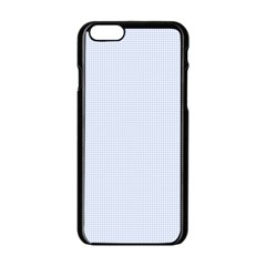 Alice Blue Houndstooth in English Country Garden Apple iPhone 6/6S Black Enamel Case