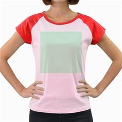 Pale Green Summermint Pastel Green Mint Women s Cap Sleeve T-Shirt