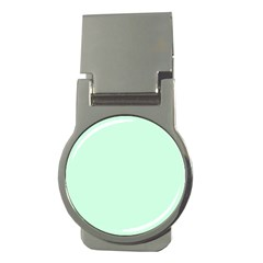 Pale Green Summermint Pastel Green Mint Money Clips (Round)
