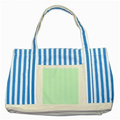 Pale Green Summermint Pastel Green Mint Striped Blue Tote Bag