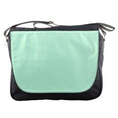 Pale Green Summermint Pastel Green Mint Messenger Bags