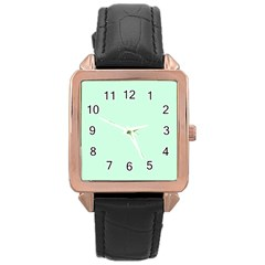 Pale Green Summermint Pastel Green Mint Rose Gold Leather Watch