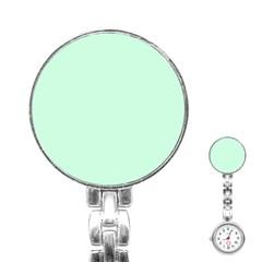 Pale Green Summermint Pastel Green Mint Stainless Steel Nurses Watch