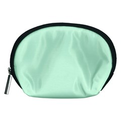 Pale Green Summermint Pastel Green Mint Accessory Pouches (Medium)