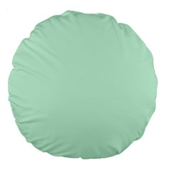 Pale Green Summermint Pastel Green Mint Large 18  Premium Flano Round Cushions