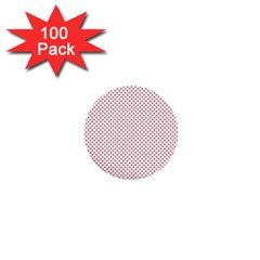 USA Flag Red Stars on White 1  Mini Buttons (100 pack)