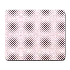 USA Flag Red Stars on White Large Mousepads