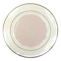 USA Flag Red Stars on White Porcelain Plates
