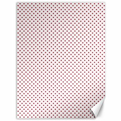 USA Flag Red Stars on White Canvas 36  x 48