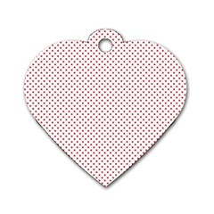 USA Flag Red Stars on White Dog Tag Heart (One Side)