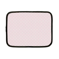 USA Flag Red Stars on White Netbook Case (Small)