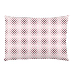 USA Flag Red Stars on White Pillow Case (Two Sides)