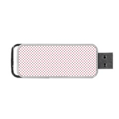 USA Flag Red Stars on White Portable USB Flash (One Side)