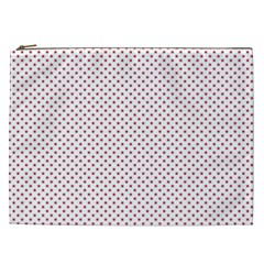 USA Flag Red Stars on White Cosmetic Bag (XXL)