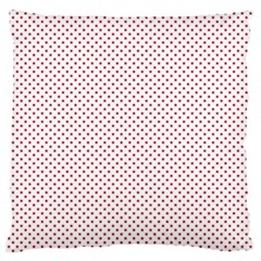 USA Flag Red Stars on White Standard Flano Cushion Case (One Side)