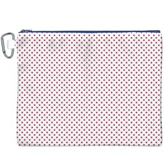 USA Flag Red Stars on White Canvas Cosmetic Bag (XXXL)