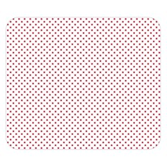 USA Flag Red Stars on White Double Sided Flano Blanket (Small)