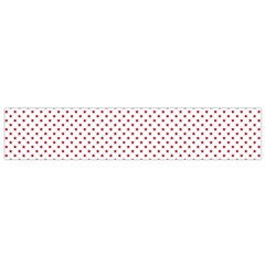 USA Flag Red Stars on White Flano Scarf (Small)