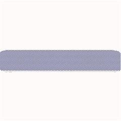 USA Flag Blue & White Wavy ZigZag Chevron Stripes Small Bar Mats