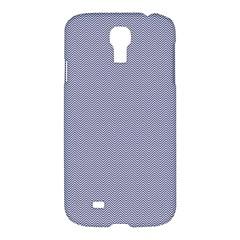 USA Flag Blue & White Wavy ZigZag Chevron Stripes Samsung Galaxy S4 I9500/I9505 Hardshell Case