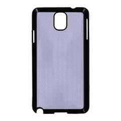 USA Flag Blue & White Wavy ZigZag Chevron Stripes Samsung Galaxy Note 3 Neo Hardshell Case (Black)