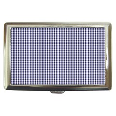USA Flag Blue and White Gingham Checked Cigarette Money Cases