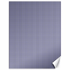 USA Flag Blue and White Gingham Checked Canvas 18  x 24