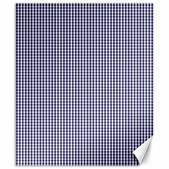 USA Flag Blue and White Gingham Checked Canvas 20  x 24