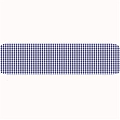 USA Flag Blue and White Gingham Checked Large Bar Mats