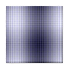 USA Flag Blue and White Gingham Checked Face Towel