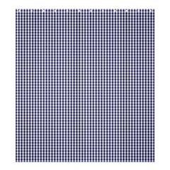 USA Flag Blue and White Gingham Checked Shower Curtain 66  x 72  (Large)