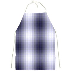 USA Flag Blue and White Gingham Checked Full Print Aprons