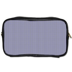 USA Flag Blue and White Gingham Checked Toiletries Bags 2-Side