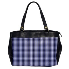 USA Flag Blue and White Gingham Checked Office Handbags