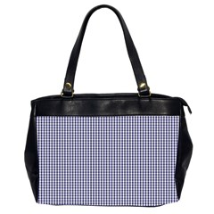 USA Flag Blue and White Gingham Checked Office Handbags (2 Sides)