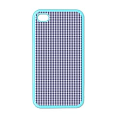 USA Flag Blue and White Gingham Checked Apple iPhone 4 Case (Color)