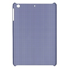 USA Flag Blue and White Gingham Checked Apple iPad Mini Hardshell Case