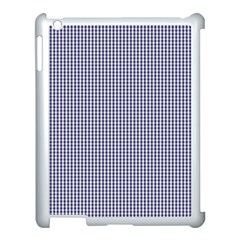 USA Flag Blue and White Gingham Checked Apple iPad 3/4 Case (White)