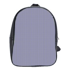 USA Flag Blue and White Gingham Checked School Bags (XL)