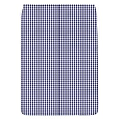 USA Flag Blue and White Gingham Checked Flap Covers (S)